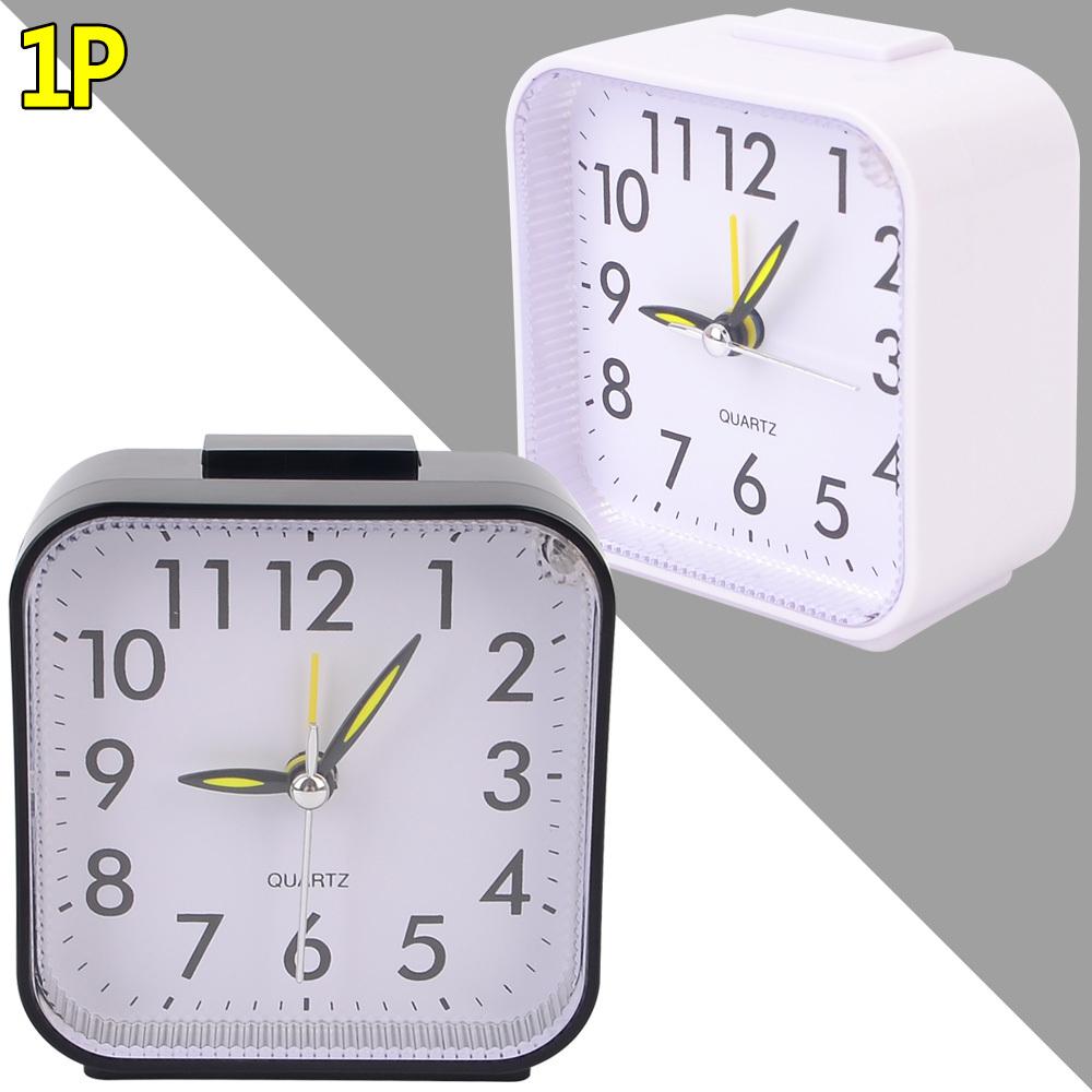 무소음 심플 사각 탁상시계 알람시계 심플탁상시계 탁상시계 무소음탁상시계