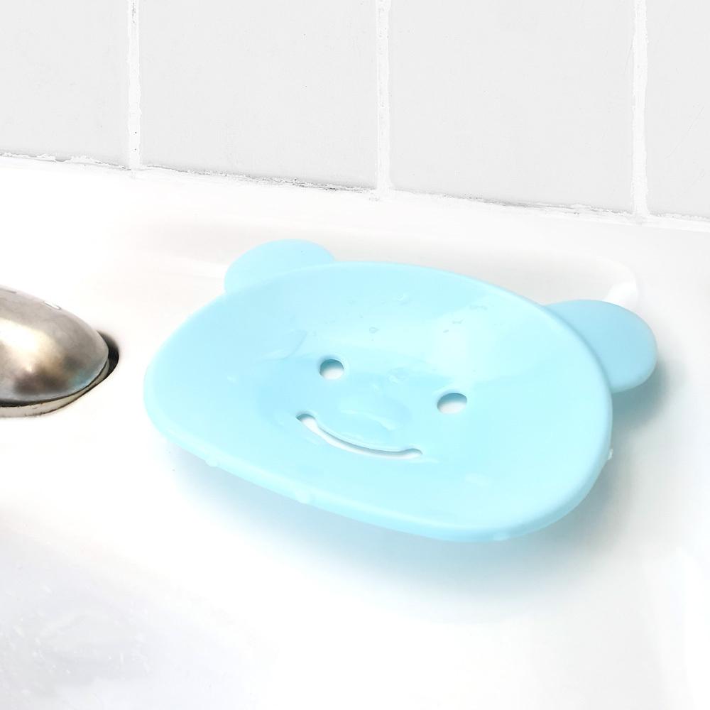 귀요미 곰돌이 비누받침대 플라스틱비누각 비누받침대 비누곽 비누케이스 물빠짐비누각 비누함