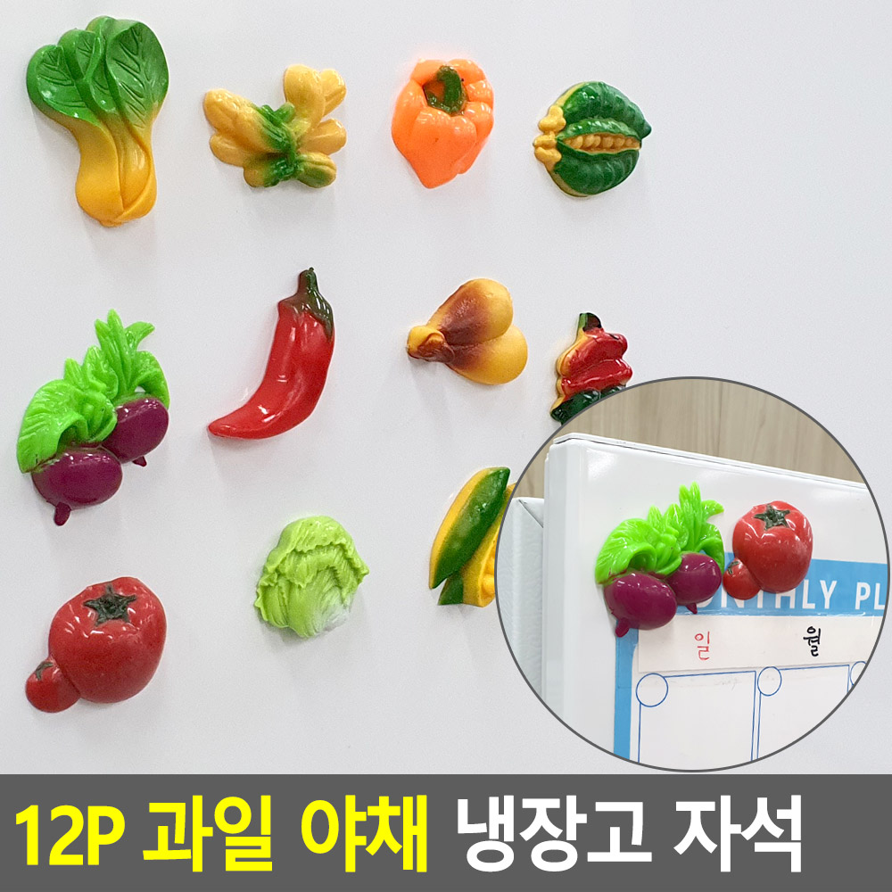 12P 과일 야채 냉장고 자석