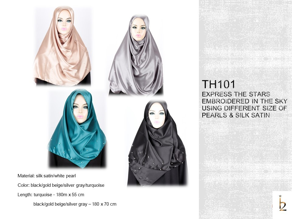 [ The twelve ] TH101[The twelve] Stylishly Designed Hijab Scarves Series