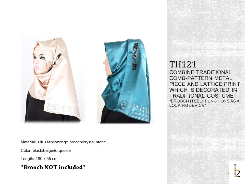 [ The twelve ] TH121[The twelve] Stylishly Designed Hijab Scarves Series