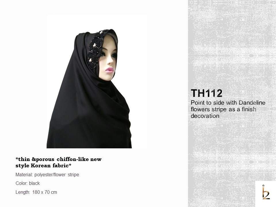 [ The twelve ] TH112[The twelve] Stylishly Designed Hijab Scarves Series