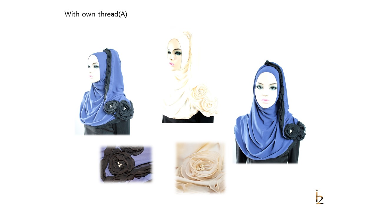 [ The twelve ] TH132[The twelve] Stylishly Designed Hijab Scarves Series