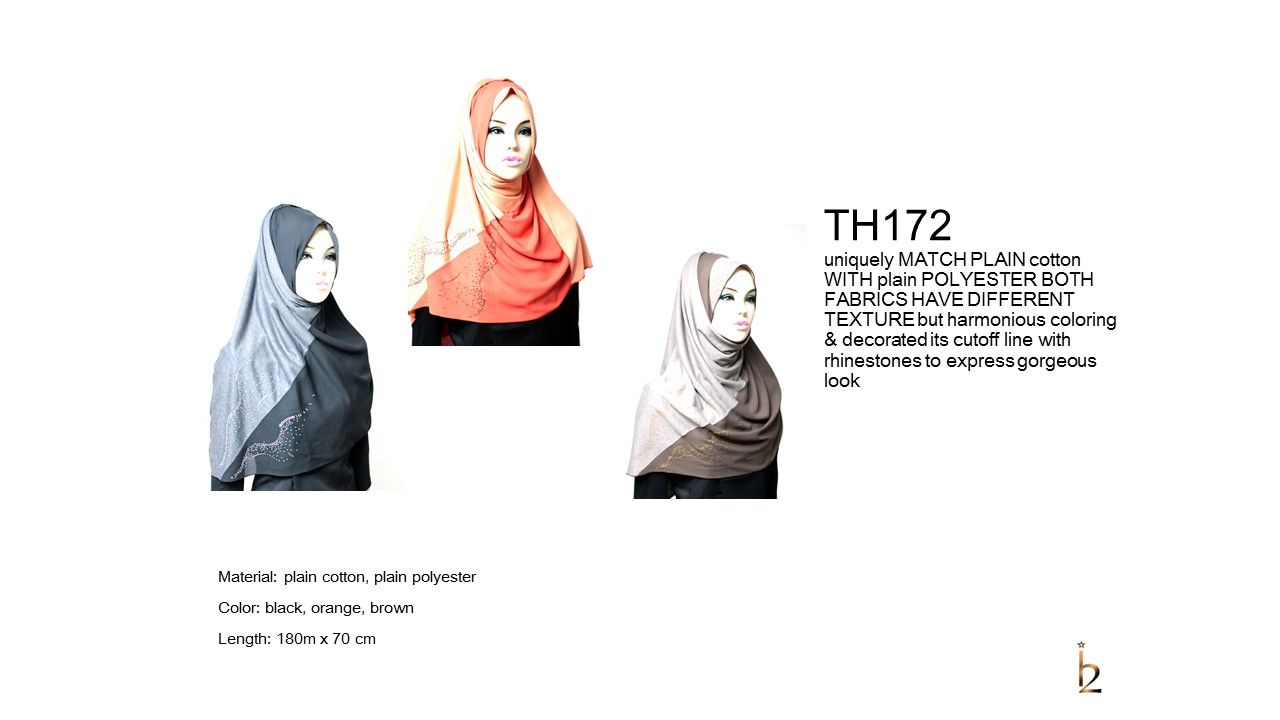 [ The twelve ] TH172[The twelve] Stylishly Designed Hijab Scarves Series