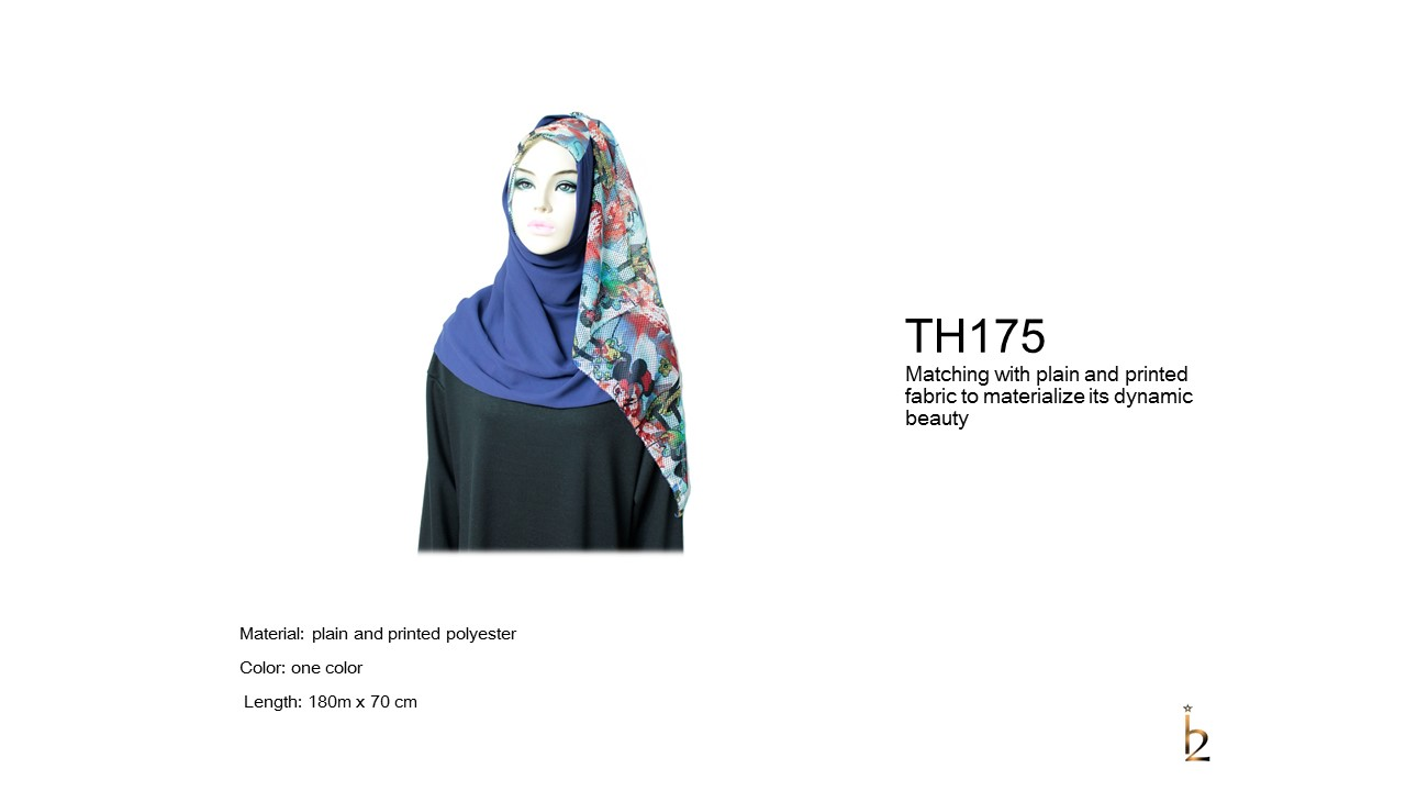 [ The twelve ] TH175[The twelve] Stylishly Designed Hijab Scarves Series