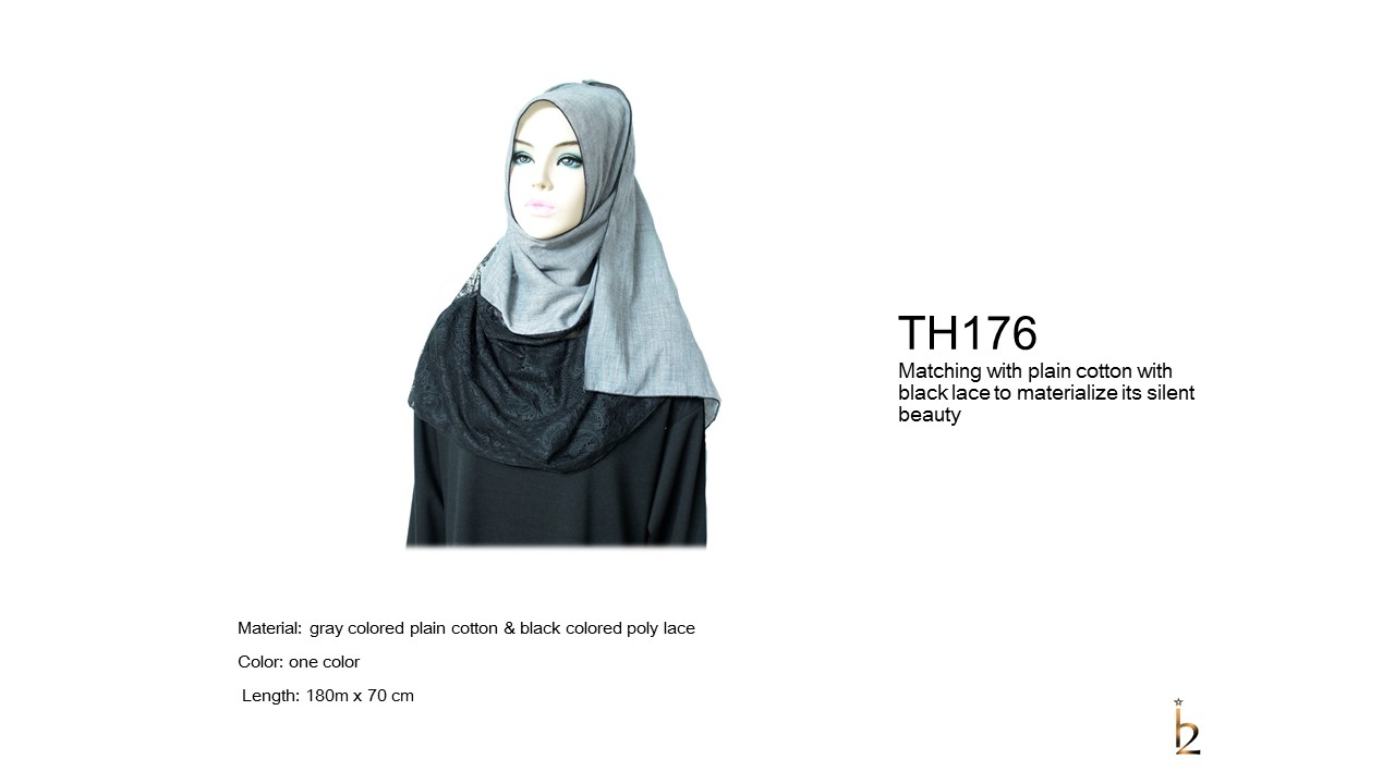 [ The twelve ] TH176[The twelve] Stylishly Designed Hijab Scarves Series