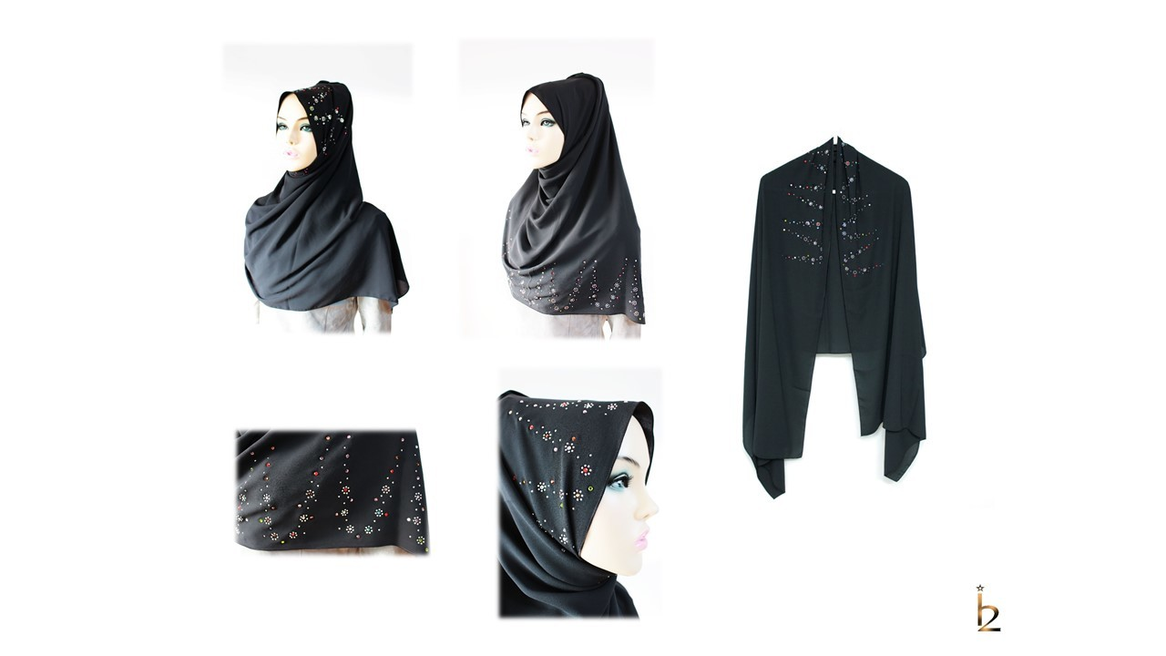 [ The twelve ] TH165[The twelve] Stylishly Designed Hijab Scarves Series
