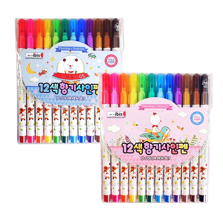 4000 12색향기사인펜(FR)-핑크