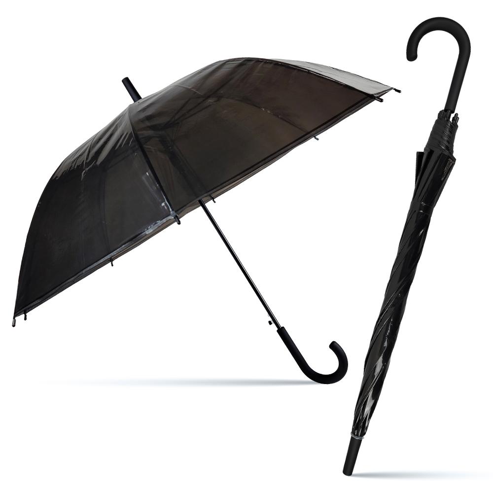 5000 투명비닐장우산(SP)-검정