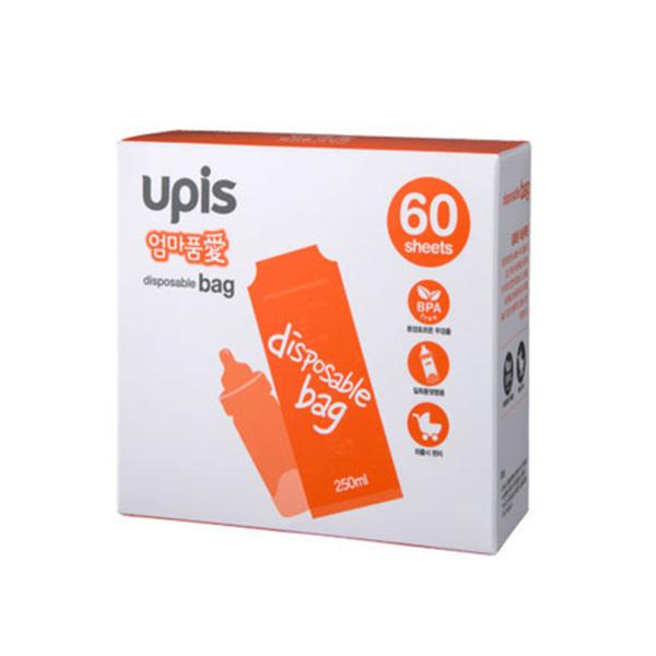 [현재분류명],유피스 일회용 젖병 비닐팩 60매,수유용품,일회용젖병비닐팩,출산용품,젖병비닐팩