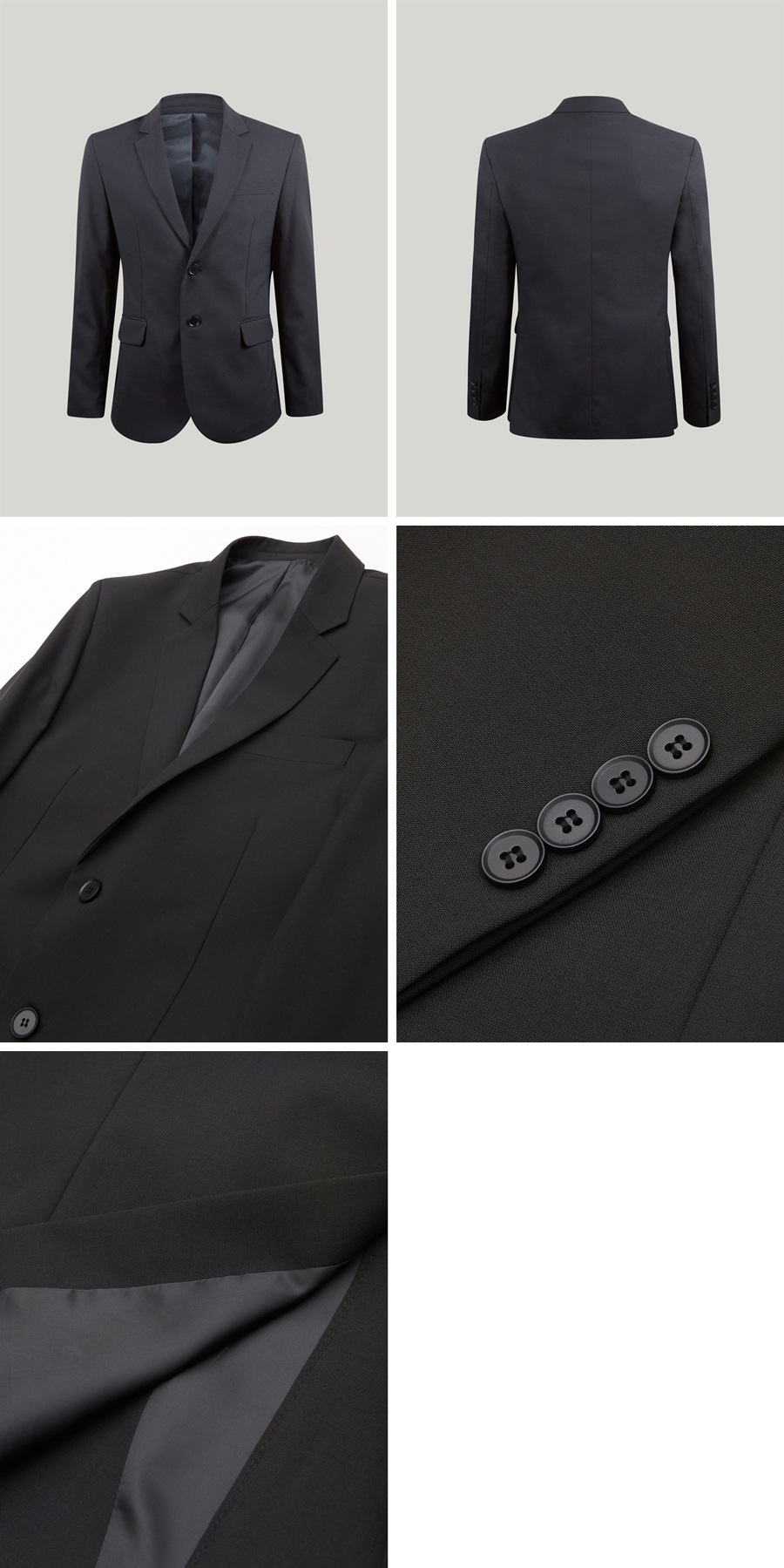 모노소잉(MONOSEWING) MONO WOOL SET-UP JACKET(BLACK)