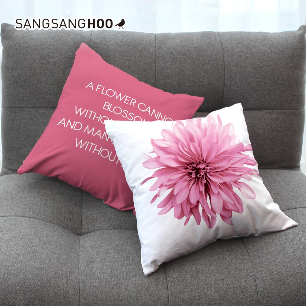 [쿠션커버] 핑크 스위트블로썸 45x45cm