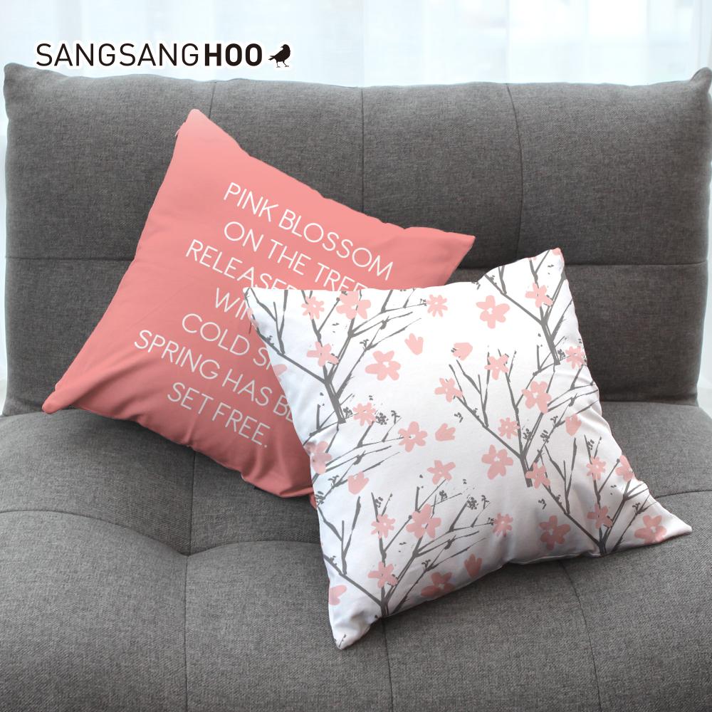 [쿠션커버] 핑크 체리블로썸 45x45cm