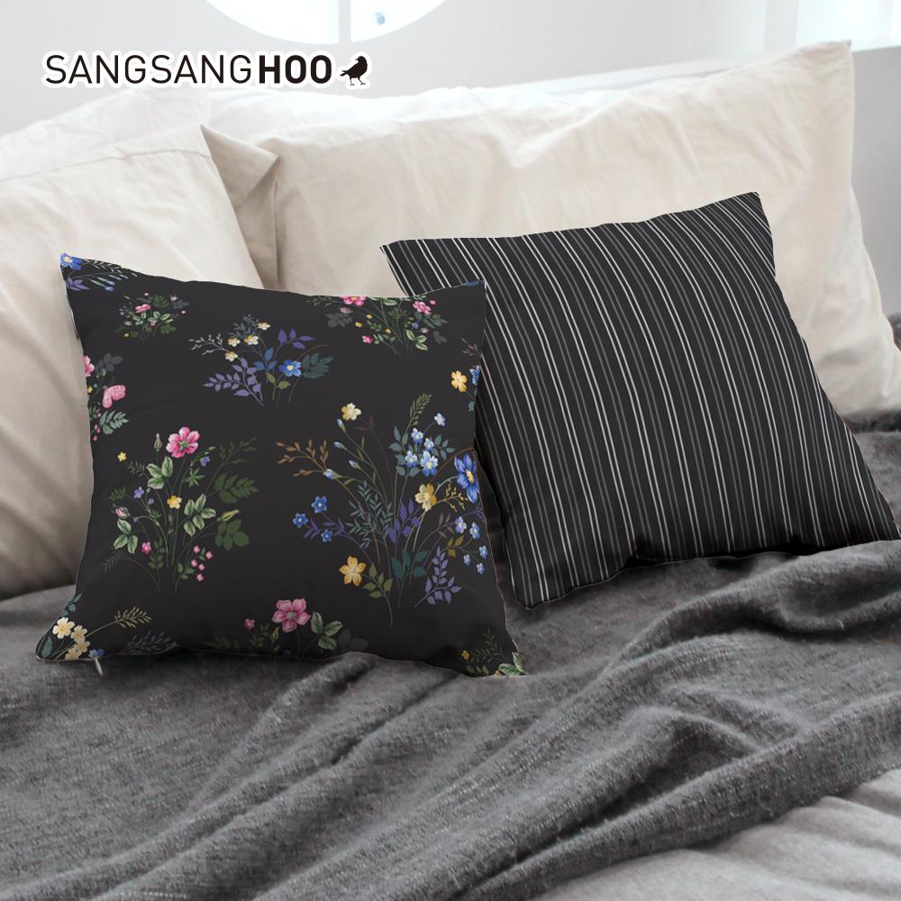 [쿠션커버] 꽃잎 네로가든 45x45cm