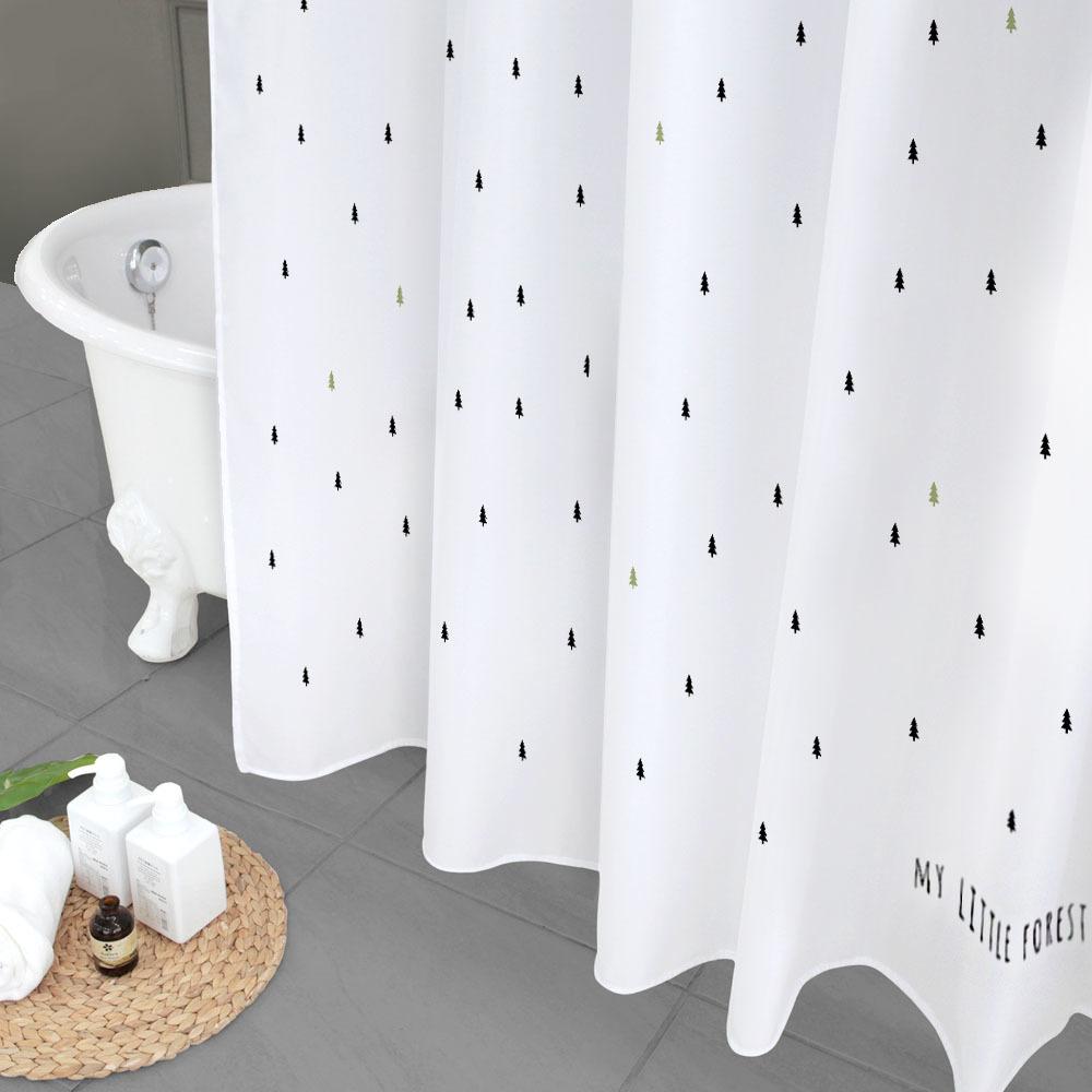북유럽 패브릭 욕실 방수 샤워커튼 마이리틀포레스트