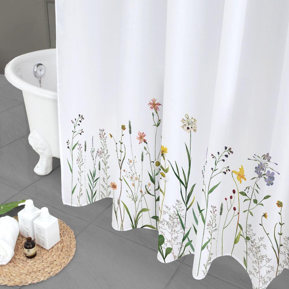 북유럽 패브릭 욕실 방수 샤워커튼 유노이아