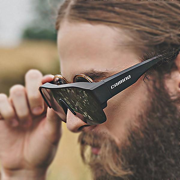 까미노 피토 선글라스 안경 착용자를 위한 도수겸용 자전거 고글 편광렌즈 골프 등산 낚시
