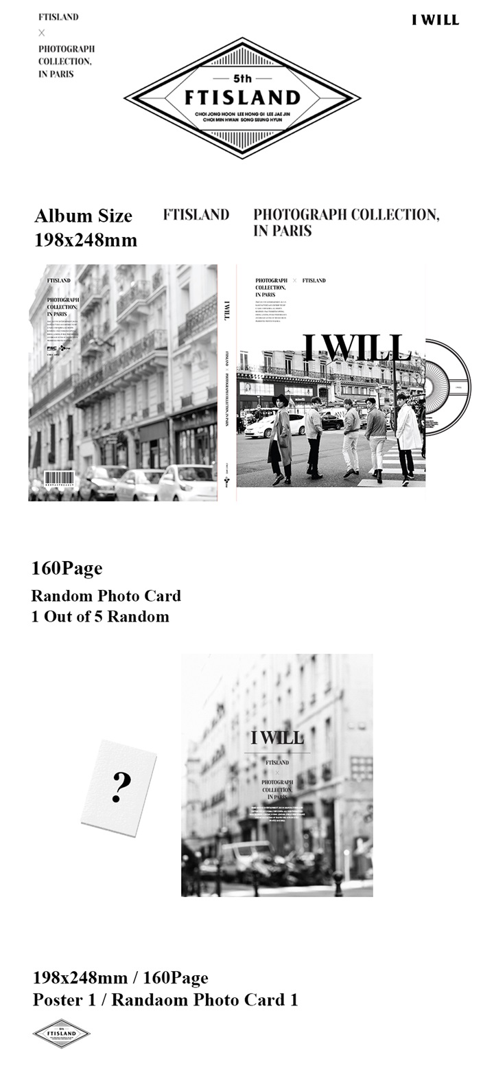 [FTISLAND] 5th Special Album (I WILL)+Photo Card
