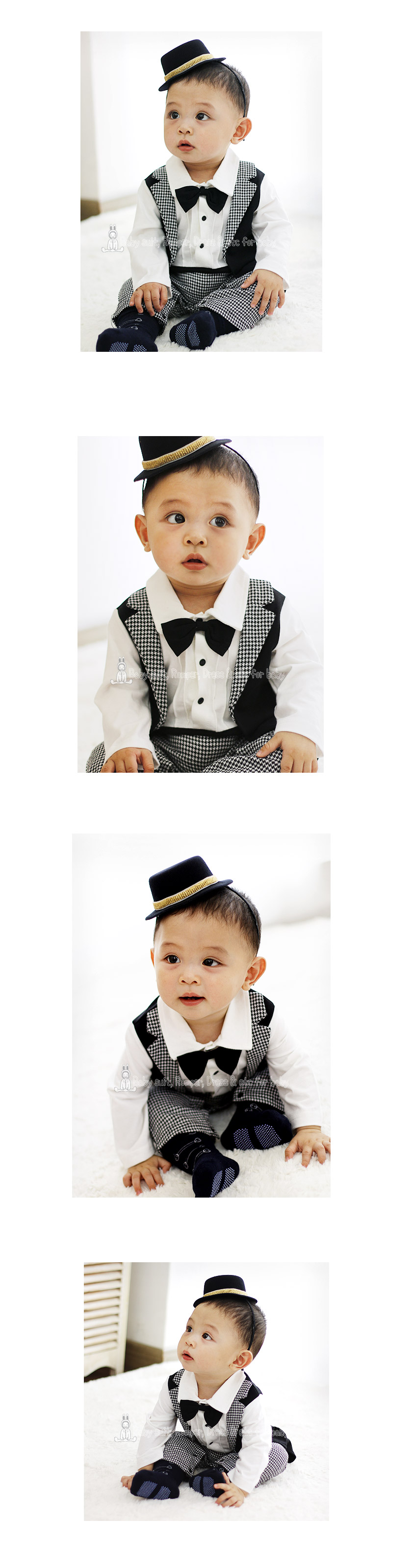 [ BABYMAX ] 1267 Oscar Tuxedo / A hundred days baby tuxedo suit