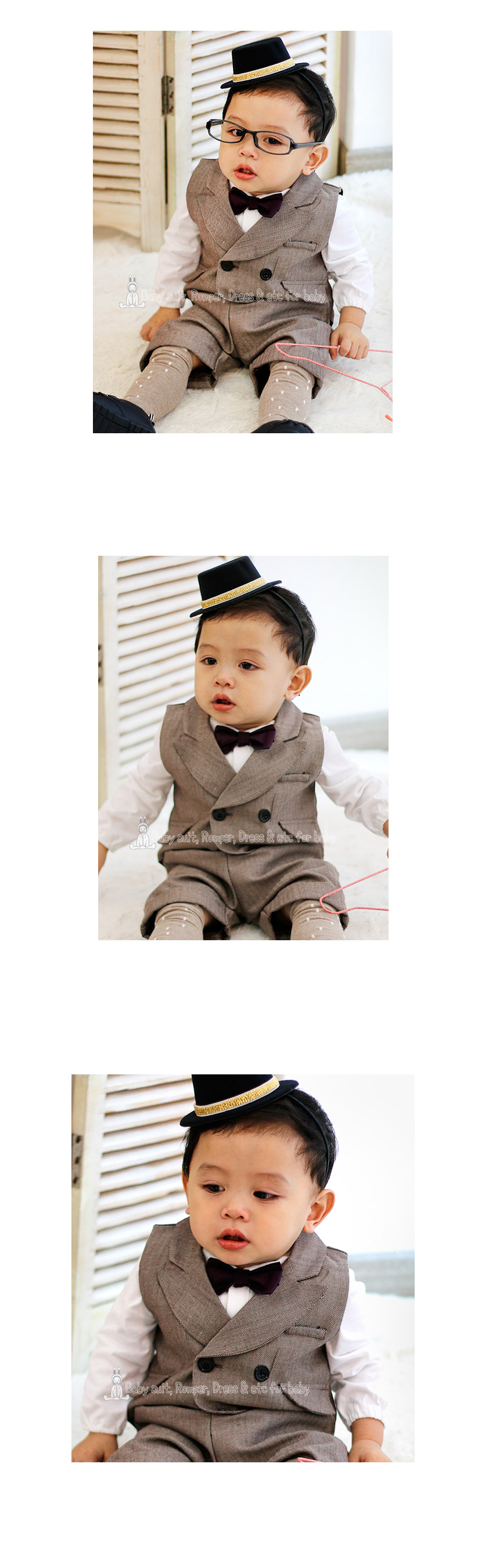 [ BABYMAX ] 1269 Windsor Bowtie suit / A hundred days baby tuxedo suit