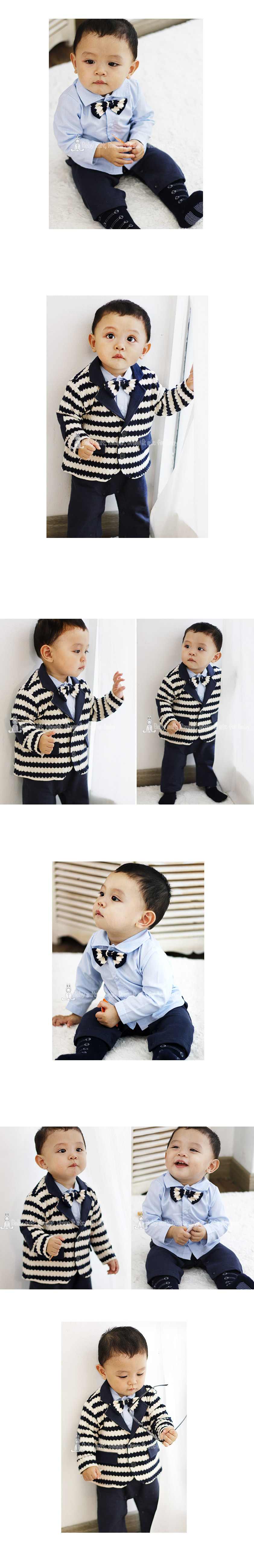 [ BABYMAX ] 1272 McCarthy Bowtie Rompers / one hundred days baby care tuxedo suit
