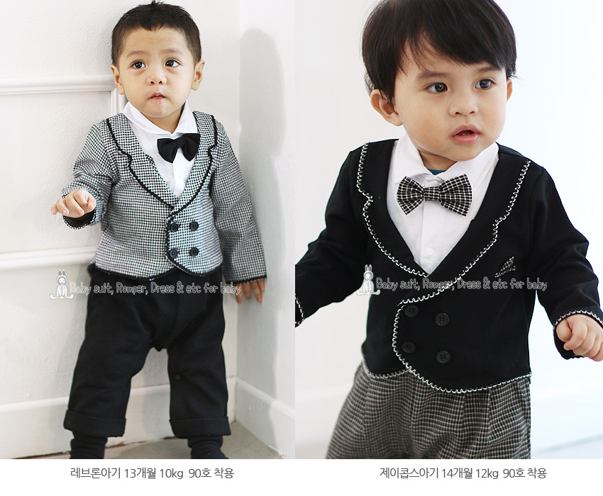 [ BABYMAX ] Infant Philip Tuxedo Rompers 1301