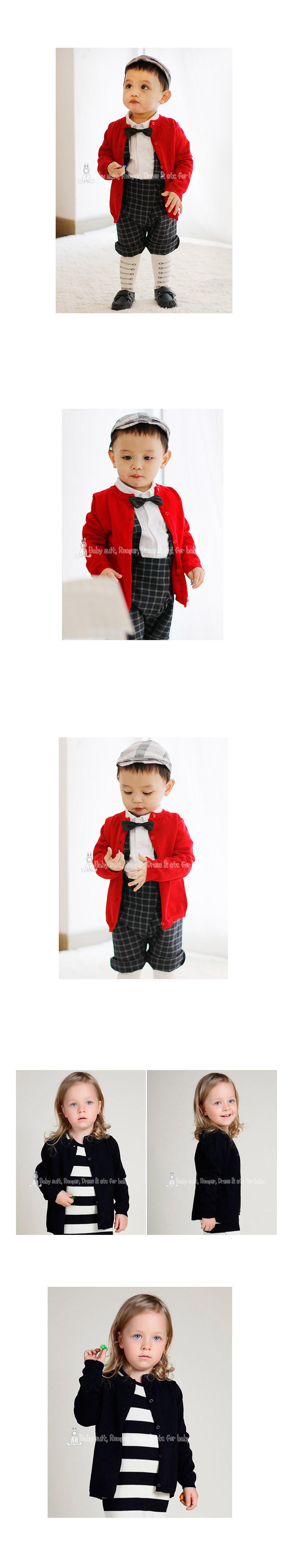 [ BABYMAX ] C031 Round knit cardigan