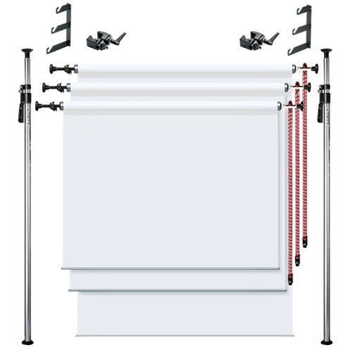 3 roll Autopole Background Set (배경지불포함)