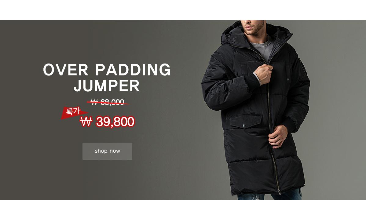 over long padding jumper