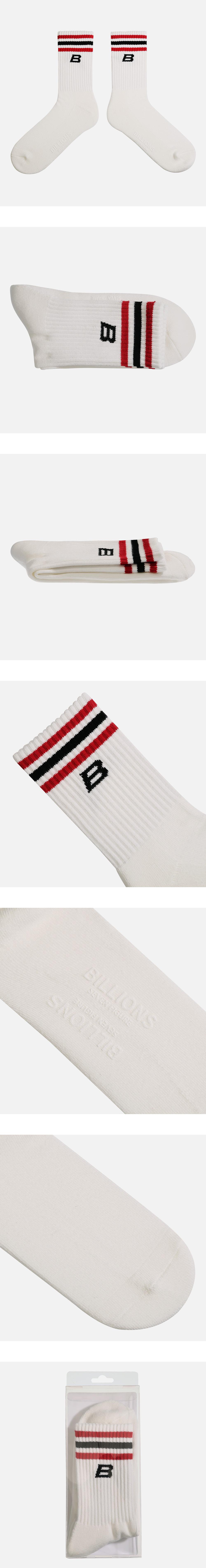 빌리언즈(BILLIONS) B LOGO SOCKS (RED)