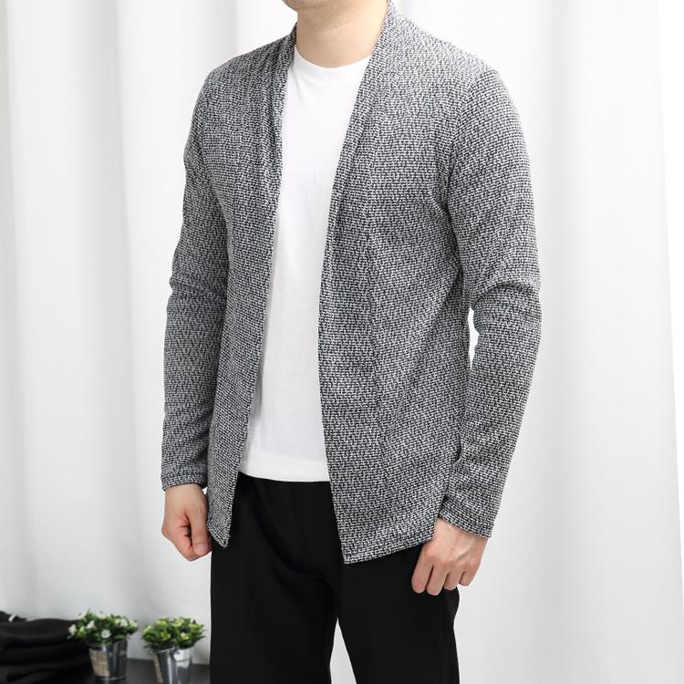 [JFNC] 모자이크 트위드 숄 남성 긴팔가디건 jc001