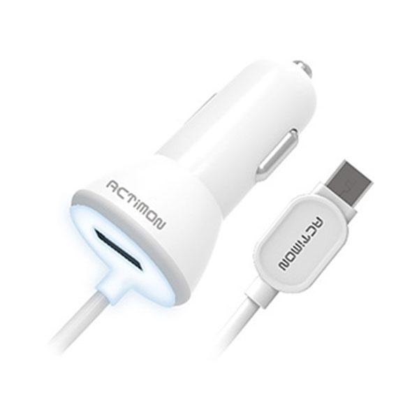 엑티몬 5핀 일체형 USB1포트 차량용 충전기 5V 2.5A