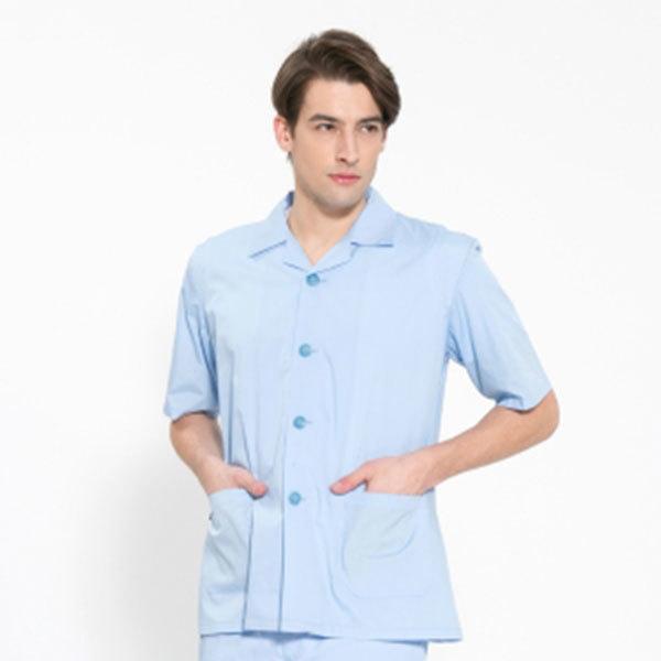 반팔 TC45수 스판덱스 위생복 셔츠 남성용 스카이블루 FS-112