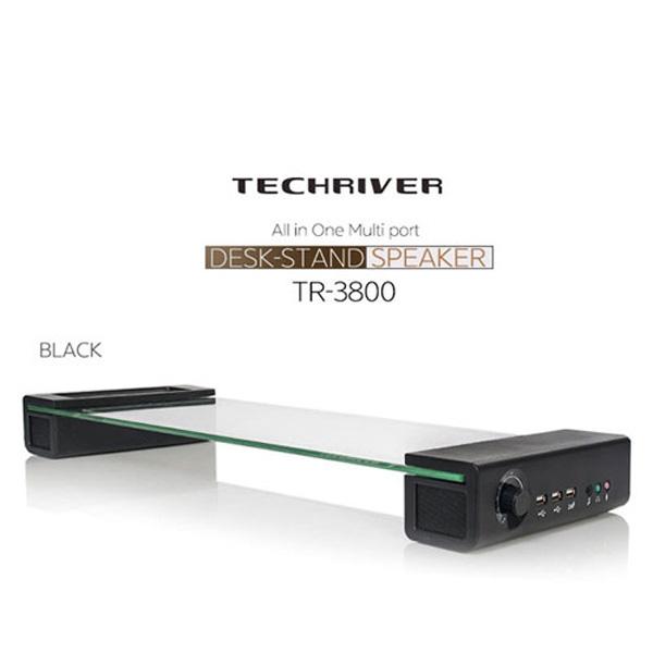 테크리버 데스크 스탠드스피커 TR-3800 블랙