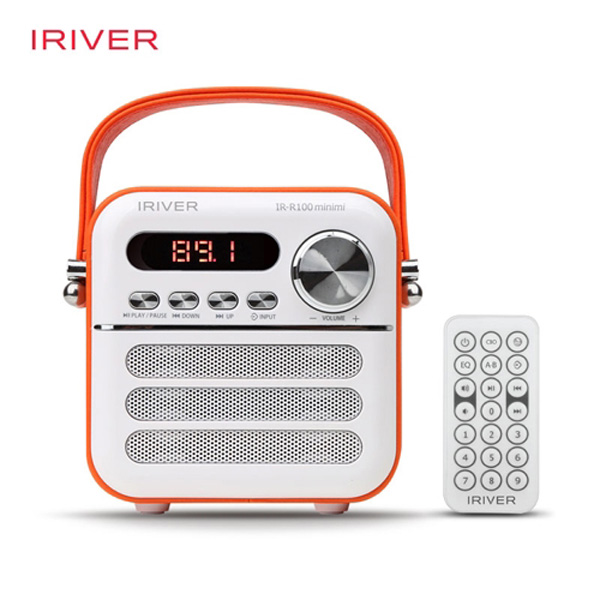 아이리버 Minimi 블루투스 스피커 라디오 IR-R100 오렌지
