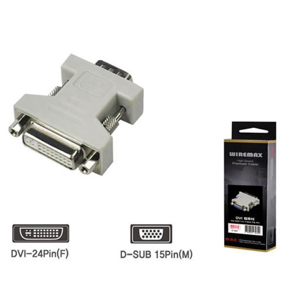DVI젠더 모니터용 15P M DVI F G-604