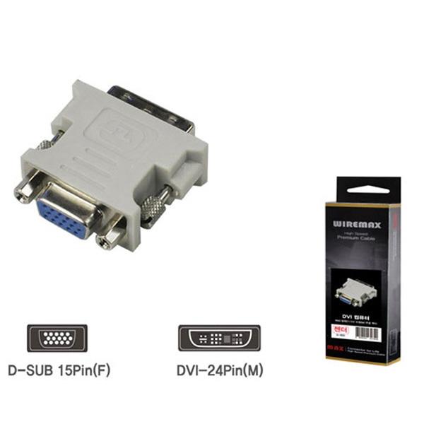 DVI젠더 컴퓨터용 15P F DVI M G-602