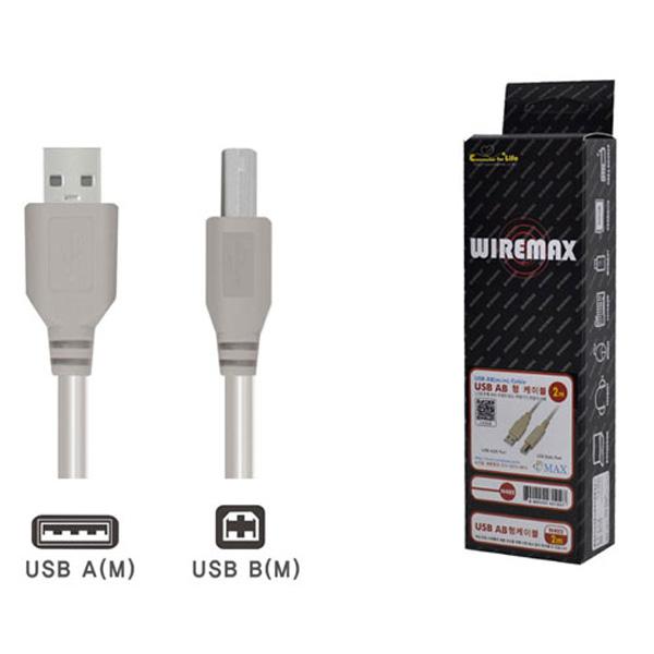 USB케이블 A B N-402 2M