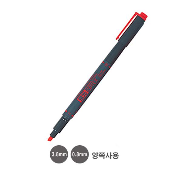제브라 옵텍스 형광펜 양쪽사용:3.8mm 0.8mm 적색