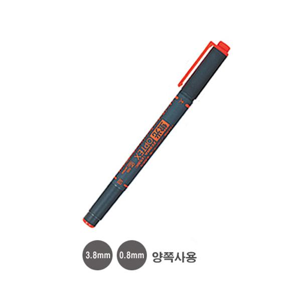 제브라 옵텍스 형광펜 양쪽사용:3.8mm 0.8mm 주황