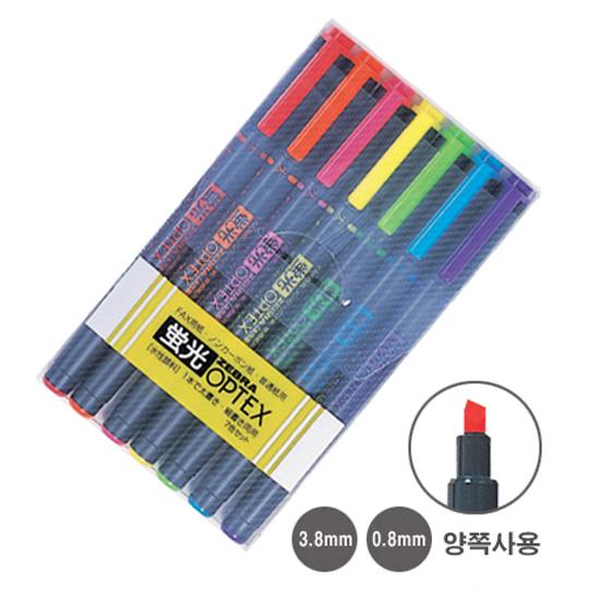 제브라 옵텍스 형광펜 7색세트