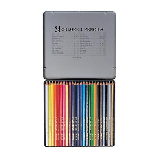 문화 넥스프로 색연필 24색 틴케이스