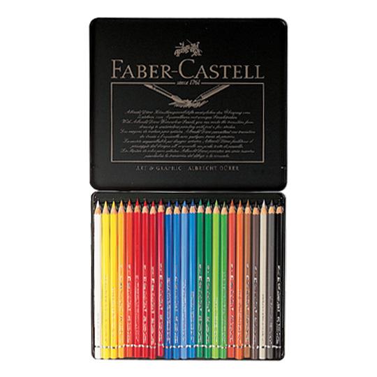 파버카스텔 전문 수채색연필 24색 틴케이스 117524