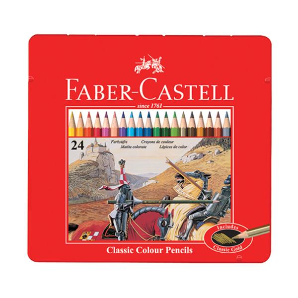 파버카스텔 일반 유성색연필 24색 틴케이스 115845