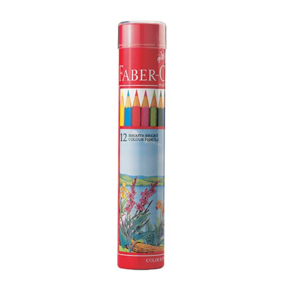 파버카스텔 일반 유성색연필 12색 원형케이스 115826