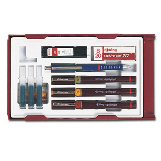 로트링 제도펜세트 RO1554235 0.1, 0.2, 0.3mm