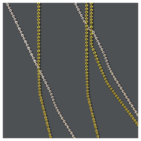 체인구슬 원형1.5mm -금색