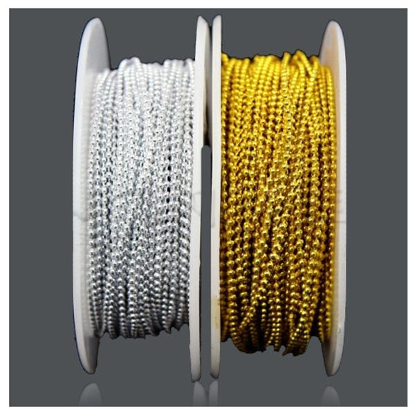 체인구슬 원형2.5mm -금색
