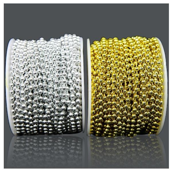 체인구슬 원형5mm -금색