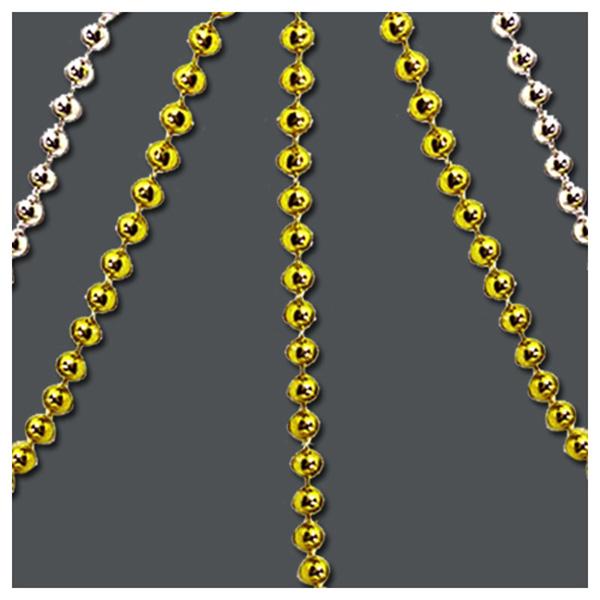체인구슬 원형10mm -금색